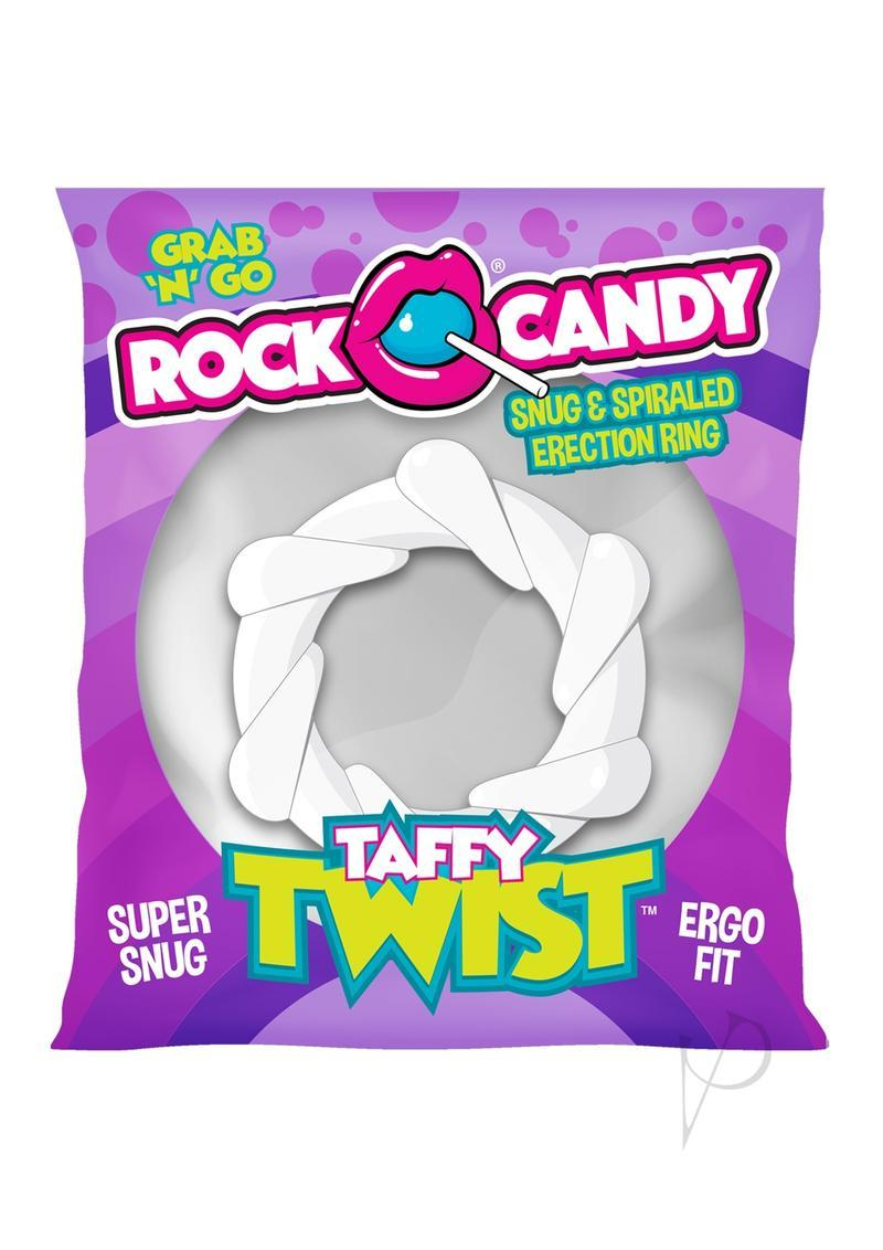 Rock Candy Taffy Twist Cock Ring - White